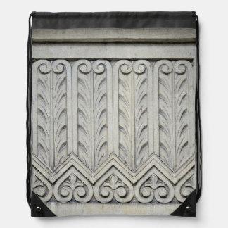Art Deco Facade Detail Drawstring Bag