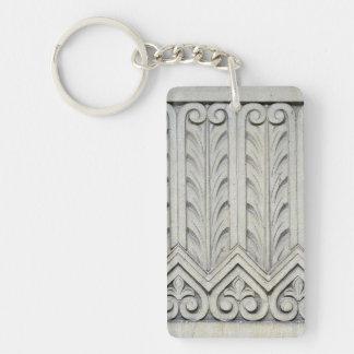 Art Deco Facade Detail Rectangular Acrylic Keychain