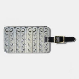 Art Deco Facade Detail Bag Tags