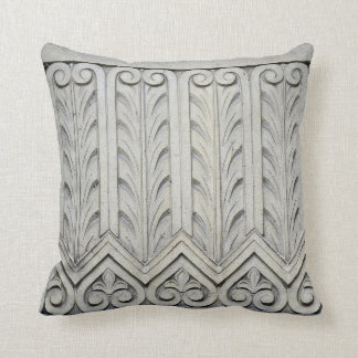 Art Deco Facade Detail Throw Pillow