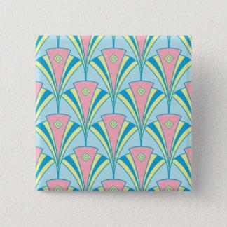 Art Deco Fan Miami Repeat Pattern Pinback Button