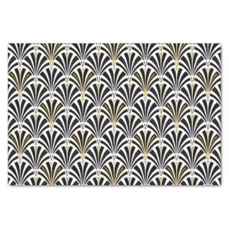 Art Deco fan pattern - black and white Tissue Paper