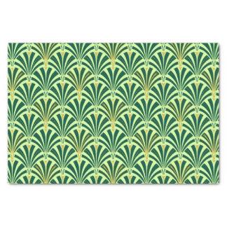 Art Deco fan pattern - pine and mint green Tissue Paper