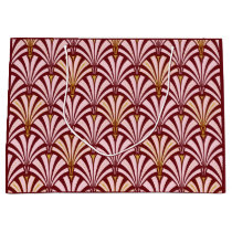 Art Deco fan pattern - pink and burgundy Large Gift Bag
