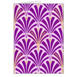 Art Deco fan pattern - purple and orchid Greeting Cards