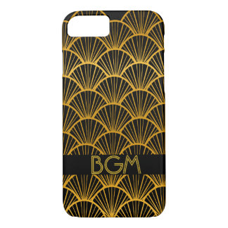 Art Deco Fans with Monogram iPhone 8/7 Case