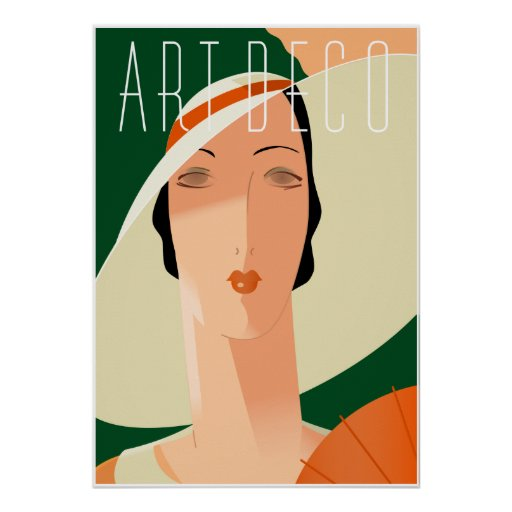 Art Deco Fashion 02 Print