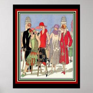 Art Deco Fashion Design Poster 16 x 20