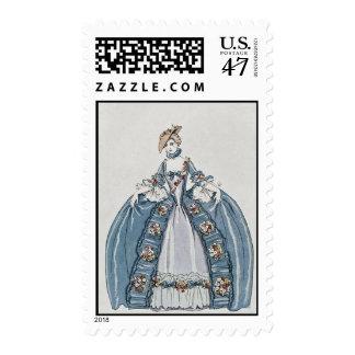 Art Deco Fashion Illustration Stamp