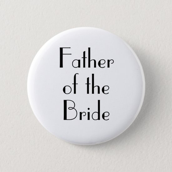 Art Deco Father of the Bride Wedding Button