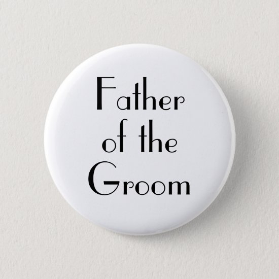 Art Deco Father of the Groom Wedding Button