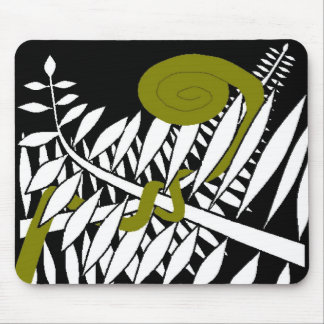 Art Deco Fern Mouse Pad