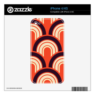 Art Deco Fifties Retro Abstract Art Skin For iPhone 4