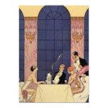 Art Deco Fine Dining Card