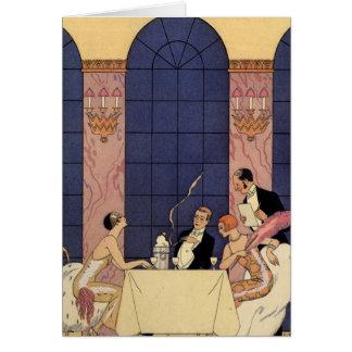 Art Deco Fine Dining Greeting Card