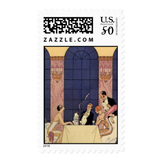 Art Deco Fine Dining Stamps