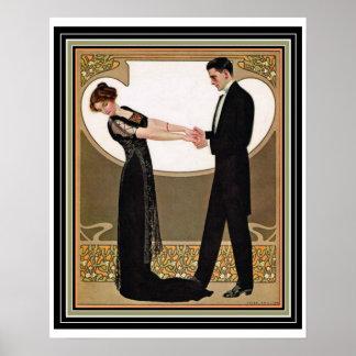 """Art Deco """"First Dance"""" Poster 16 x 20"""