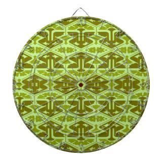 Art Deco Flair - In Green Dartboard With Darts