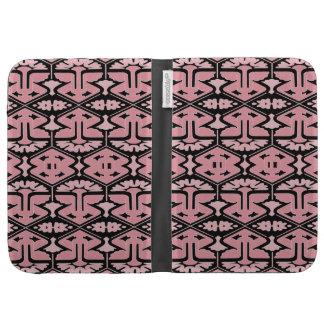 Art Deco Flair - Pink on Black Kindle 3G Case