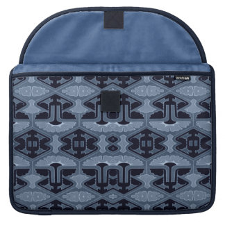 Art Deco Flair - Shades of Blue MacBook Pro Sleeves