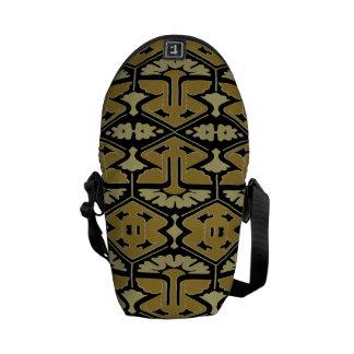 Art Deco Flair - Variation on Black Messenger Bag