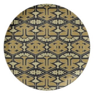 Art Deco Flair - Variation on Black Dinner Plates