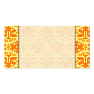 Art Deco Flair - Yellow and Orange Personalized Photo Card