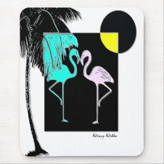 Art Deco Flamingo Mouse pad