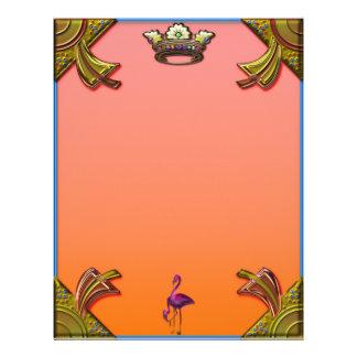 Art Deco Flamingos and Crown Design Letterhead