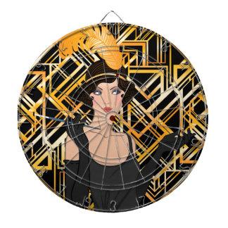 art deco, flipper girl, vintage,great Gatsby,chic Dartboard