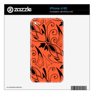 Art Deco Floral Decal For iPhone 4S