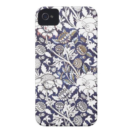Art Deco floral fabric iphone 4 cases