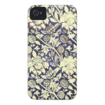 Art Deco floral fabric iphone 4 cases