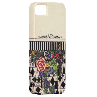 Art Deco Floral Geometric Custom Monogram iPhone SE/5/5s Case