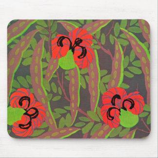 Art déco floral Mousepad