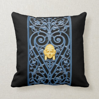 Art Deco - Floral Pattern Wrought Iron - Pillow 1