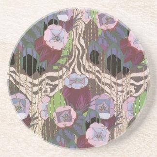 Art déco floral posavasos personalizados