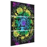 Art Deco  Floral Rainbow Canvas Prints