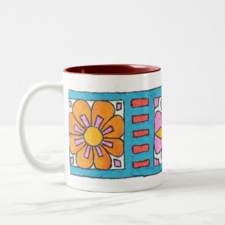 Art Deco Flower Band Mug