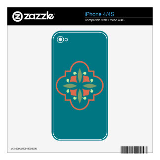 Art Deco Flower iPhone 4S Decal