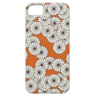 Art Deco flower pattern - cream on rust iPhone SE/5/5s Case
