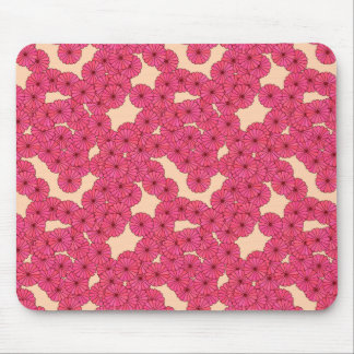 Art Deco flower pattern - pink and peach Mouse Pad