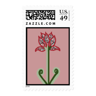 Art Deco Flower Postage Stamp