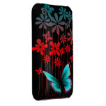 Art Deco Flowers and Butterfly iPhone 3 Case-Mate Case