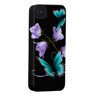 Art Deco Flowers and Butterfly iPhone 4 Cases