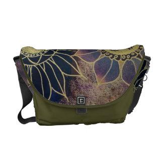 Art Deco Flowers Courier Bags