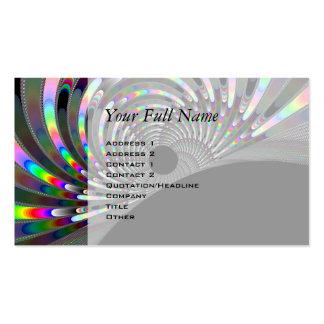Art Deco Fractal Business Card Templates