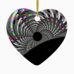 Art Deco Fractal Ceramic Ornament