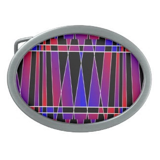 Art Deco 'Fractured' by Kenneth Yoncich Oval Belt Buckle