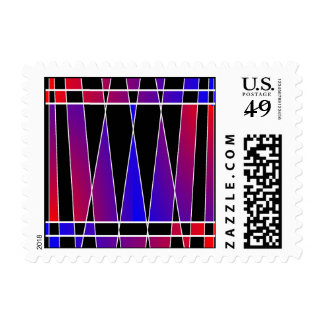 Art Deco 'Fractured' by Kenneth Yoncich Postage